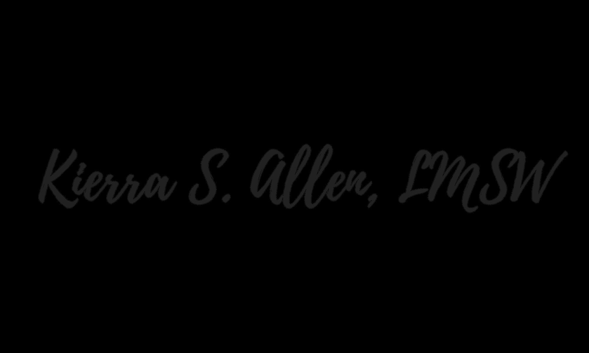 KIERRA S. ALLEN, LMSW